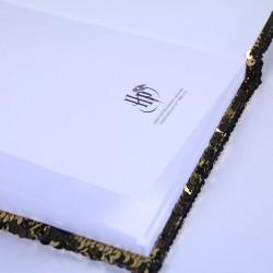 Carnet de Notes Harry Potter à Sequins Noir et Doré