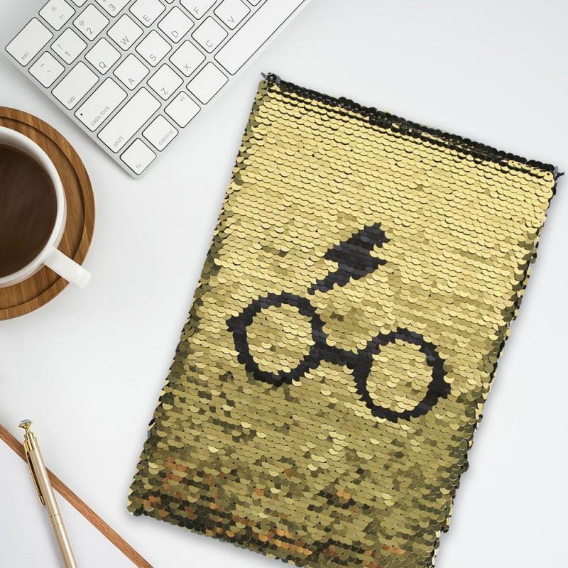 Carnet de note sequins Harry Potter