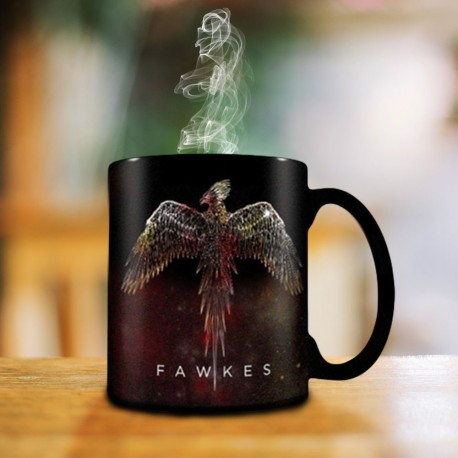 Mug Thermoréactif Harry Potter Fawkes le Phénix