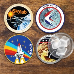 Sous-Verres Nasa Badges - Lot de 4