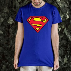 T-shirt Superman Bleu Logo