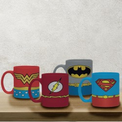Set de 4 Tasses à Expresso Super-Héros DC Comics