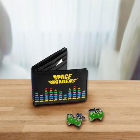 Set Portefeuille et Boutons de Manchette Space Invaders