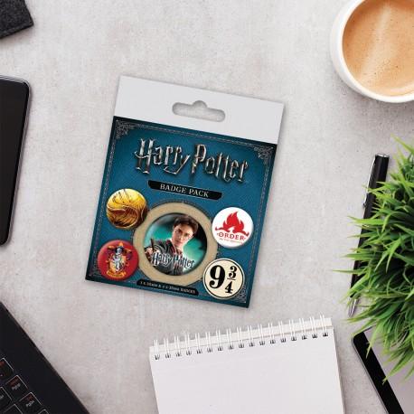 Pack de 5 Badges Harry Potter Gryffondor