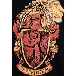 T-Shirt Harry Potter Noir Armoiries de Serpentard