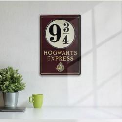 Plaque Métallique 3D Harry Potter - Voie Express 9 3/4