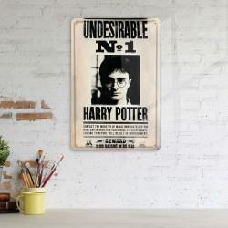 Plaque Métallique 3D Harry Potter - Undesirable n°1