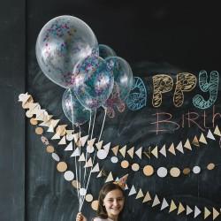 Ballons de Confettis Transparents
