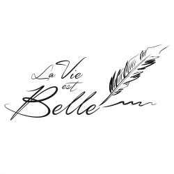 Sticker Plume La Vie est Belle