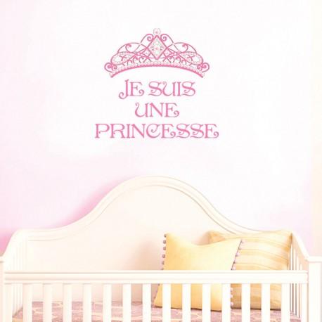 Stickers Diadème Je Suis une Princesse