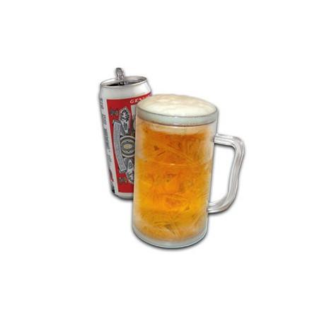 La chope à bière réfrigérée permet de garder sa boisson au frais, et ceci sans utiliser de glaçons ! Trinquez dorénavant avec fraîcheur à l'aide de cette chope insolite, pratique et originale !