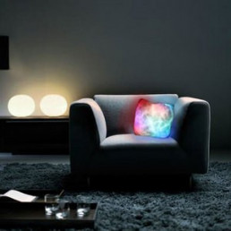 Coussin Lumineux Multicolore