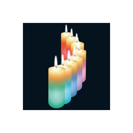 magic candle bougie en cire qui change de couleur