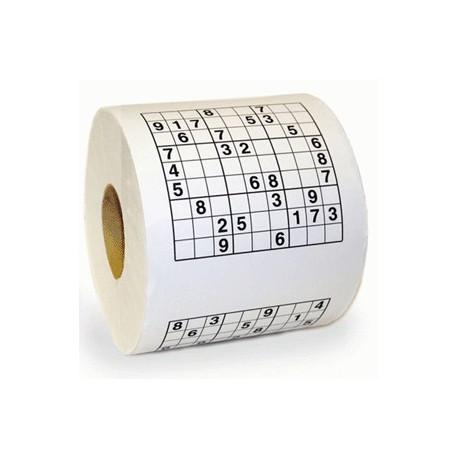 Occupez-vous de façon ludique en complétant ces grilles de Sudoku présentes sur... un rouleau de papier toilette ! Amusez vos invités en leur faisant découvrir ce rouleau original !