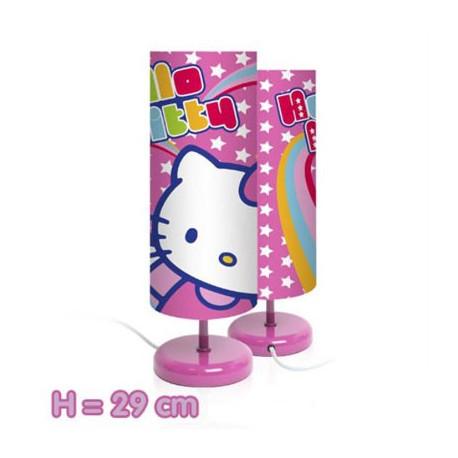 lampe de chevet hello kitty rose et étoilée