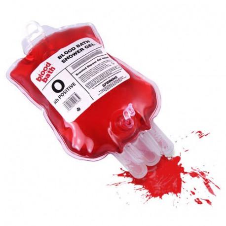 Effrayez vos amis en leur proposant une petite douche originale ... La surprise sera entière lorsqu'ils s'apercevront que le gel douche se trouve... dans une poche à transfusion !