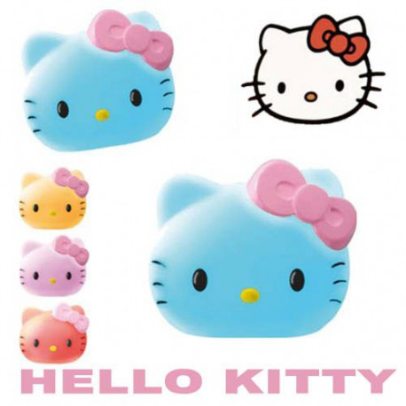 veilleuse tête d'hello kitty multicolore