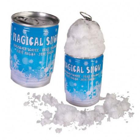 Désormais, vous pourrez avoir de la neige en été comme en hiver... Une petite canette pour fabriquer sa propre neige n'importe où !