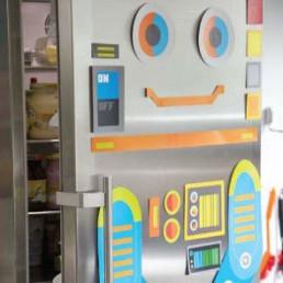 Sticker Géant Bricolo Le Robot