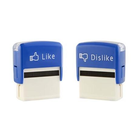 Pour tous les fans inconditionnels des réseaux sociaux…, votre avis compte ! Osez donner votre point de vue avec ce tampon qui ne laisse pas de place à l'hésitation : J'aime ou je n'aime pas !