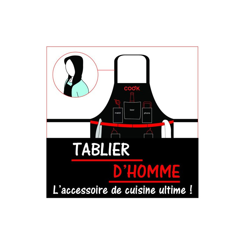 tablier d 39 homme man apron cadeau maison et cuisine. Black Bedroom Furniture Sets. Home Design Ideas