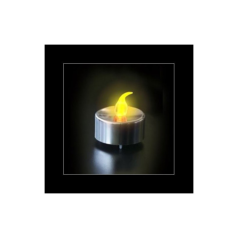 bougie led argent e flamme un cadeau pour cr er des. Black Bedroom Furniture Sets. Home Design Ideas