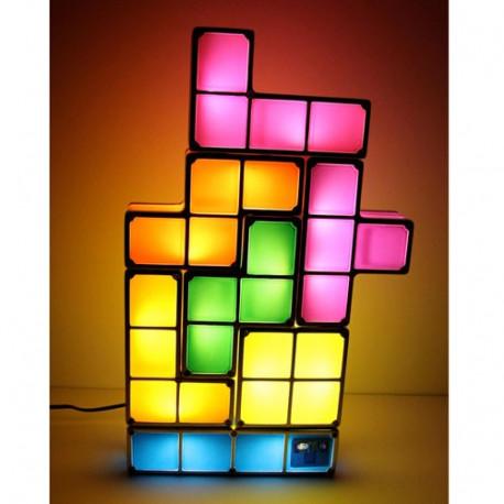 lampe tetris design aux blocs lumineux