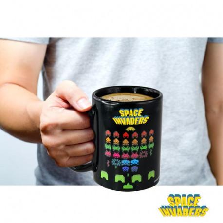 mug thermoréactif du jeu vidéo space invaders