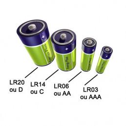4 Piles LR20/D