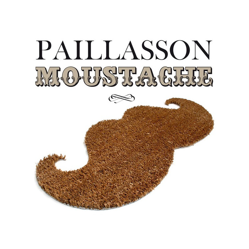 paillasson en forme de moustache