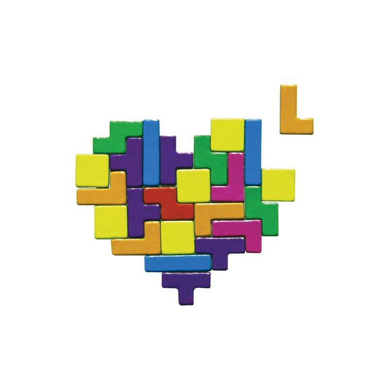 aimants pour frigo tetris color s ces magnets tetris sont un cadeau pour une touche d. Black Bedroom Furniture Sets. Home Design Ideas