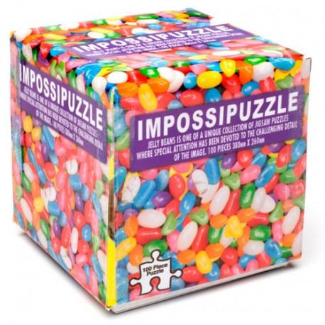 cube de puzzle avec des bonbons jelly beans pour motifs