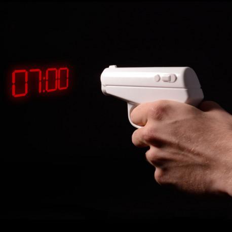 Réveil Pistolet Projecteur d'Heure 007