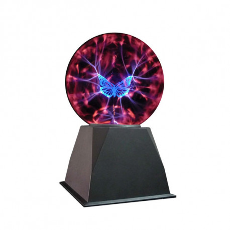 boule plasma papillon en verre,un cadeau fascinant