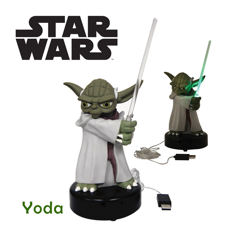 lampe usb yoda star wars achat cadeau geek star wars rapid cadeau. Black Bedroom Furniture Sets. Home Design Ideas