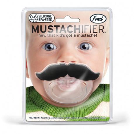 cette tétine moustache pour bébé est une idée cadeau naissance idéale.