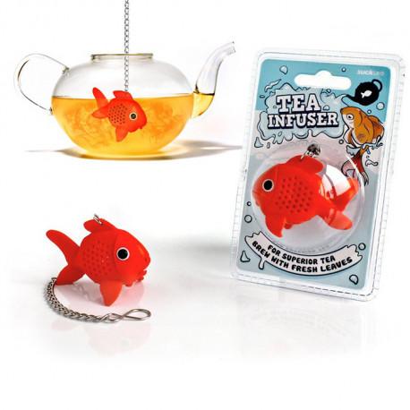 infuseur boule à thé poisson rouge en silicone pour infuser thé ou tisane.