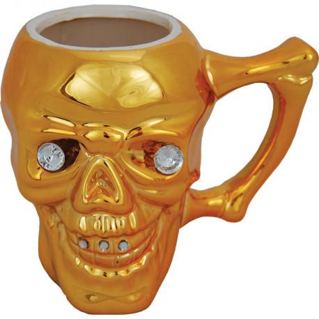 grand mug tête de mort objet décalé et bling bling.