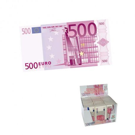 Etonnez vos convives en déposant sur votre table ces liasses de billets de 500 euros... Une riche idée ! Ces dix serviettes en papier sont un cadeau utilement humoristique !