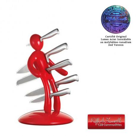 Set de Couteaux de Cuisine Bloc Voodoo Rouge Deuxième Edition