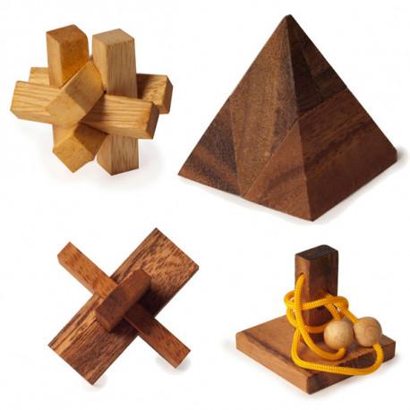 Le mini casse-tête en bois... efficace pour maitriser son stress ! Saurez-vous relever le défi ? Alliez efficacité, logique et perspicacité pour venir à bout de ce jeu casse-tête original !