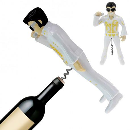 Elvis The King... un tire-bouchon rigolo et original ! Laissez faire le charme du King lorsque le bouchon d'une bouteille vous résiste... Une idée cadeau insolite !