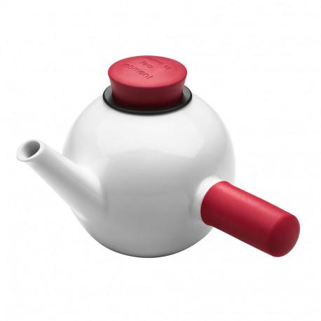 Offrez aux amateurs de thé cette théière QDO en porcelaine blanche avec sa poignée latérale en silicone design et pratique... Sa forme originale et innovante en fait un cadeau d'exception !