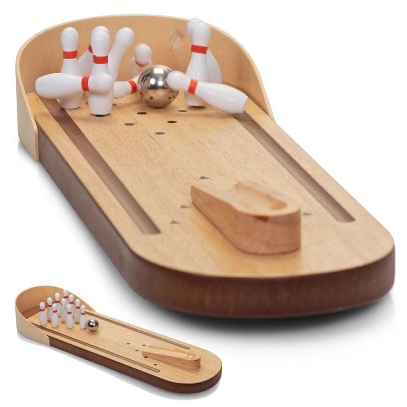 jeu de bowling en bois achat jeu original de bureau sur rapid. Black Bedroom Furniture Sets. Home Design Ideas