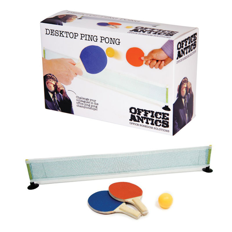 set de mini ping pong pour le bureau achat jeu pour le bureau sur rapid cadeau. Black Bedroom Furniture Sets. Home Design Ideas