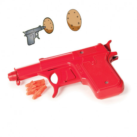 Un pistolet patate à faire pâlir de jalousie l'agent 007... Ce jouet d'antan revient dans une version plus moderne pour des batailles acharnées de pommes de terre, d'eau ou de munitions en caoutchouc !