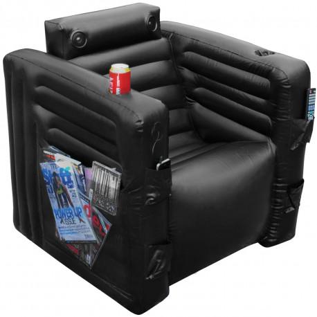 Le fauteuil multifonction : le paradis sur Terre ! Ce fauteuil geek gonflable ultra-équipé est facile à ranger et à transporter... Un fauteuil tout-en-un à adopter de toute urgence !