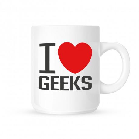 ce mug i love geeks pour les passionnés de la culture geek va plaire à vos collègues de bureau