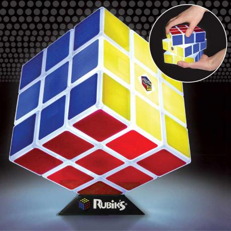 cette lampe rubik's cube,sous licence officielle,est un cadeau geek,design,tendance