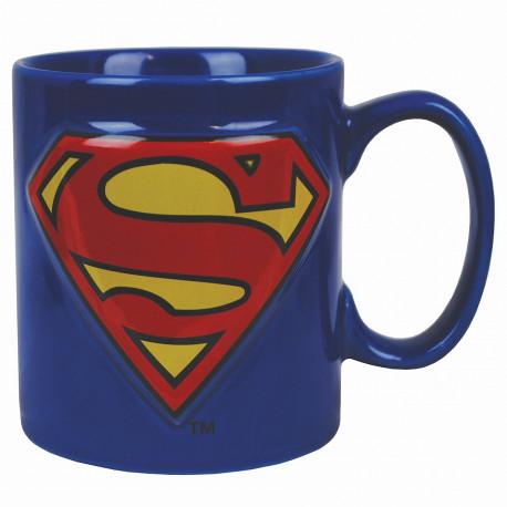 le mug superman 2d,le mug des super-héros par excellence,logo en relief